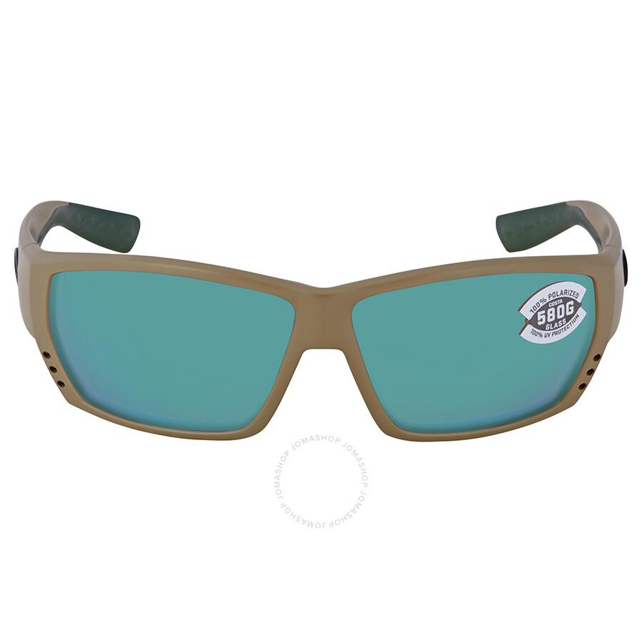 74310ce6216e9 Costa Del Mar Tuna Alley Green Mirror Polarized Glass Rectangular Sunglasses  Item No. TA 248 OGMGLP