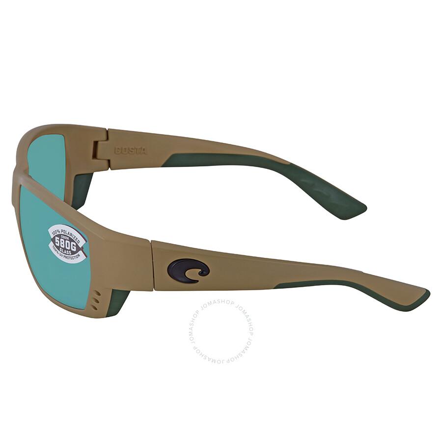 ea889cf079 ... Costa Del Mar Tuna Alley Green Mirror Polarized Glass Rectangular Sunglasses  TA 248 OGMGLP