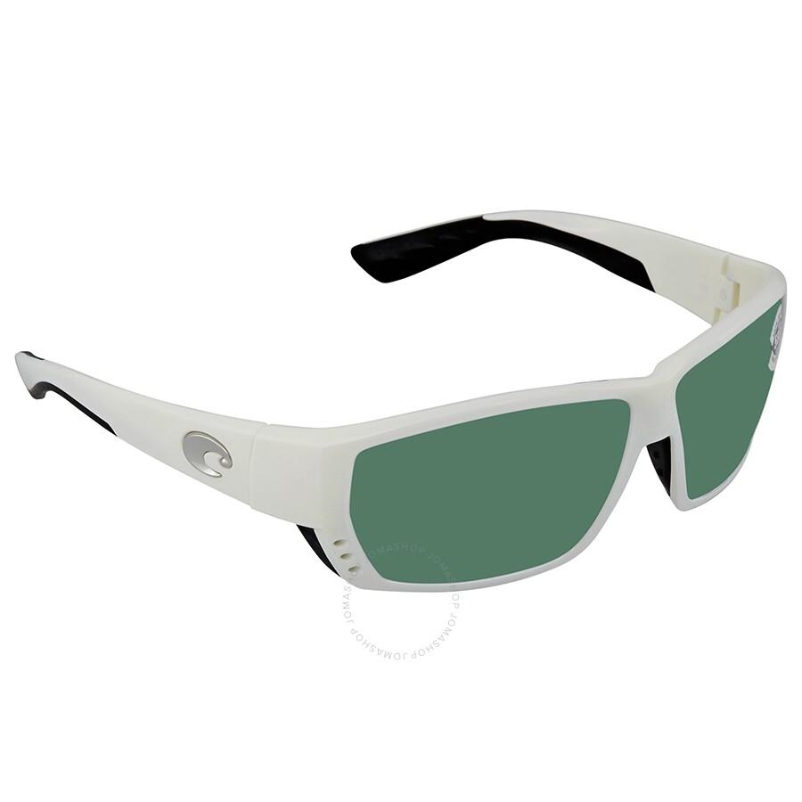 9776413d68cdc Costa Del Mar Tuna Alley Green Mirror Polarized Glass Rectangular  Sunglasses TA 25 OGMGLP ...