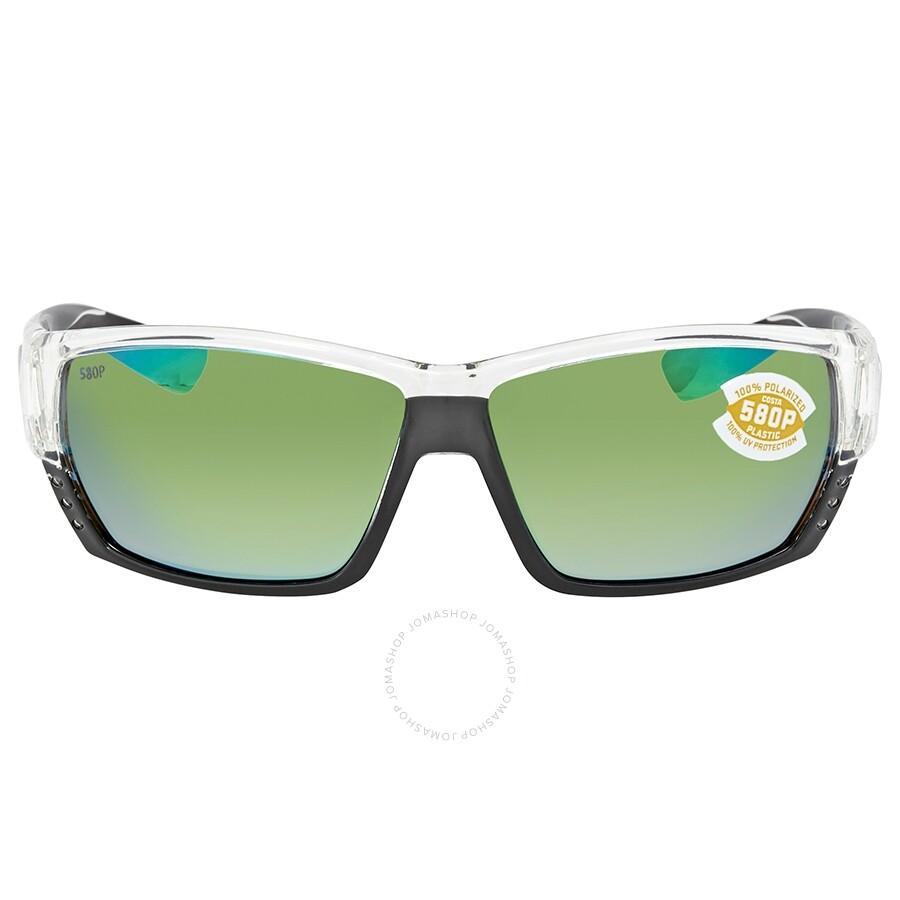 56f82e4e4b13 ... Costa Del Mar Tuna Alley Green Mirror Polarized Plastic Rectangular Sunglasses  TA 39 OGMP ...