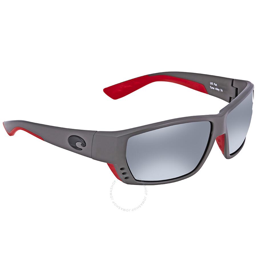 e0d4b2df21 Costa Del Mar Tuna Alley Grey Silver Mirror 580G Rectangular Sunglasses TA  196 OSGGLP Item No. TA 196 OSGGLP
