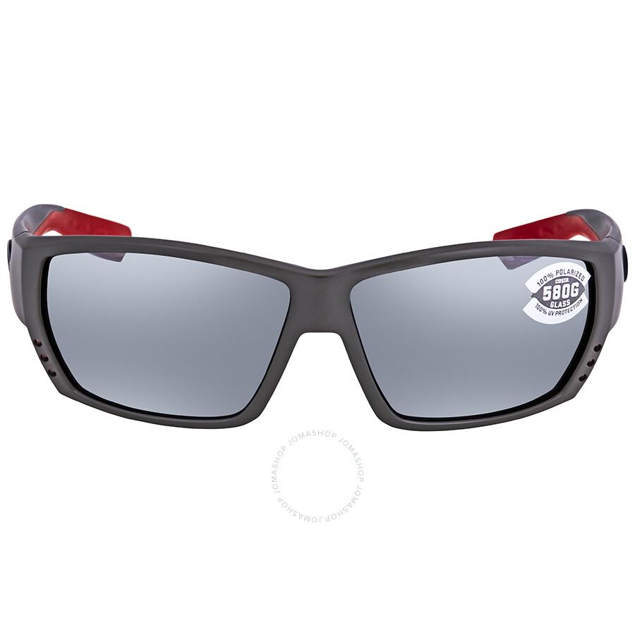 851d61c2b2 ... Costa Del Mar Tuna Alley Grey Silver Mirror 580G Rectangular Sunglasses  TA 196 OSGGLP ...