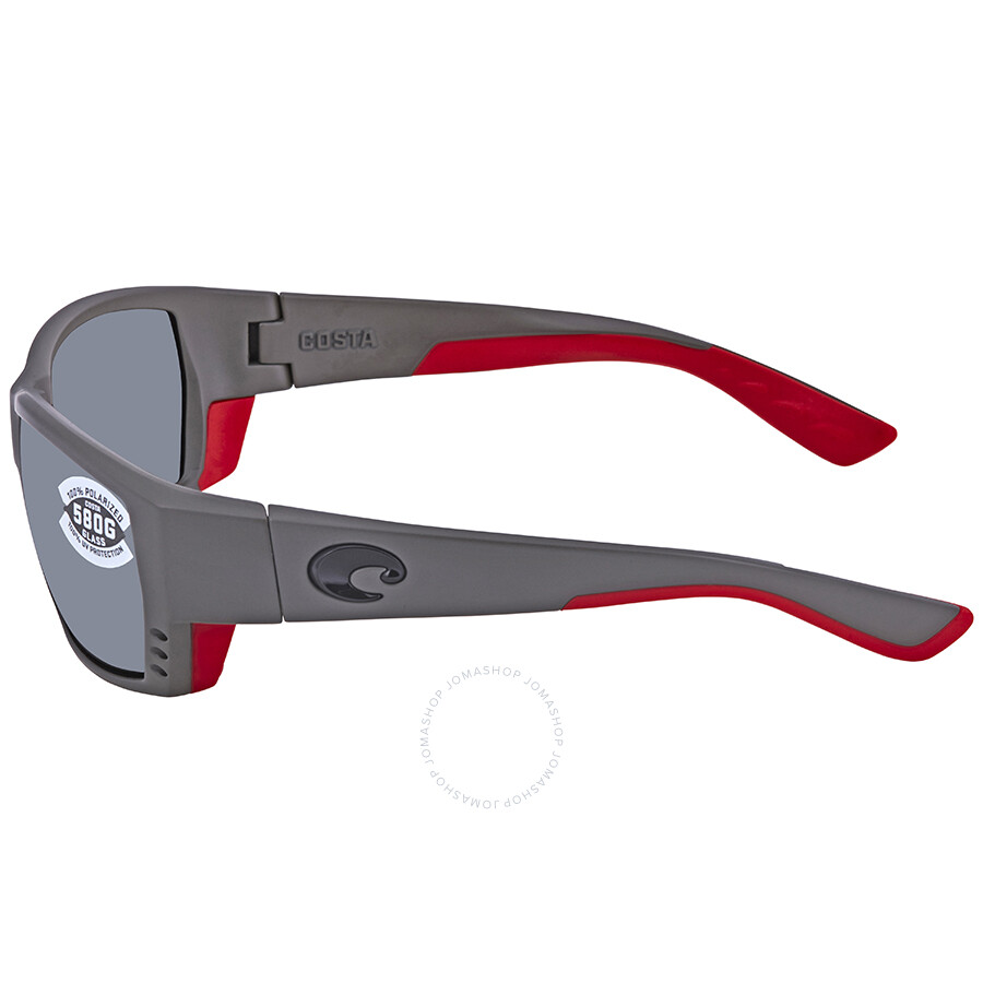 8d6e88fc94 ... Costa Del Mar Tuna Alley Grey Silver Mirror 580G Rectangular Sunglasses  TA 196 OSGGLP