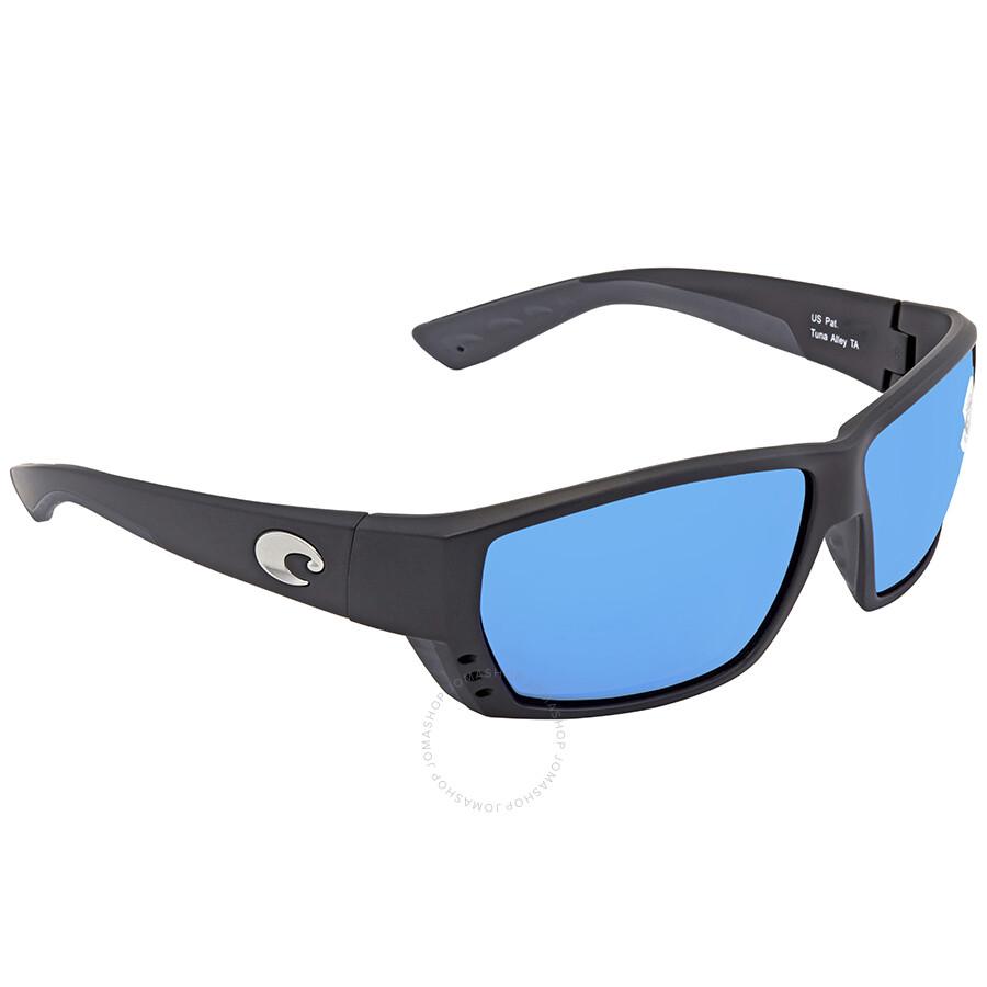58aae73aba28 Costa Del Mar Tuna Alley Large Fit Blue Mirror Glass Rectangular Polarized  Sunglasses TA 11 OBMGLP Item No. TA 11 OBMGLP
