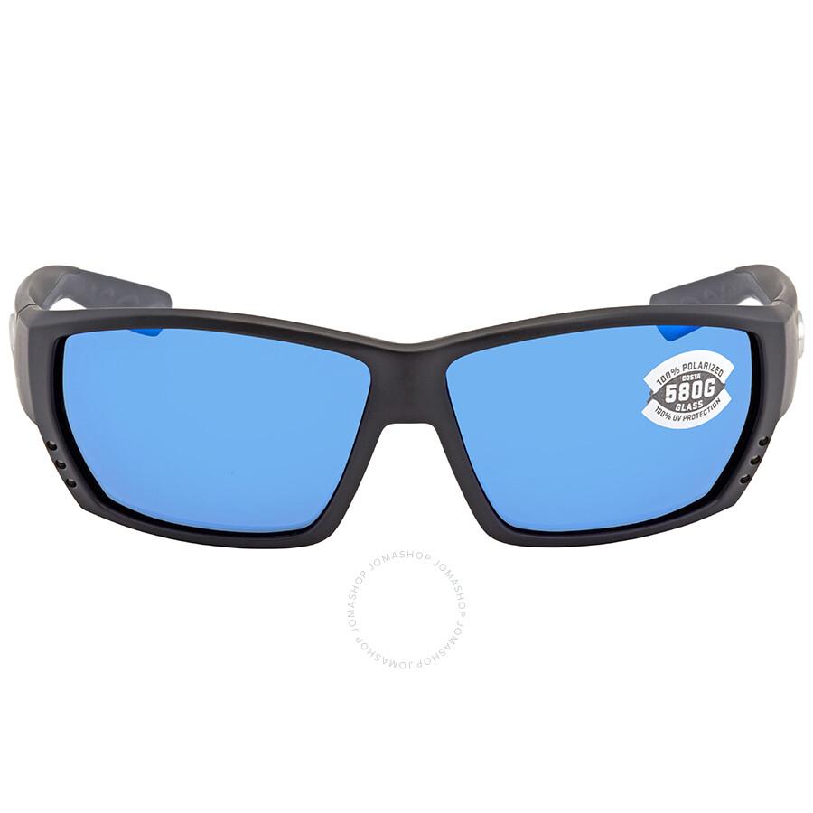 8fb6fee42771 ... Costa Del Mar Tuna Alley Large Fit Blue Mirror Glass Rectangular  Polarized Sunglasses TA 11 OBMGLP ...