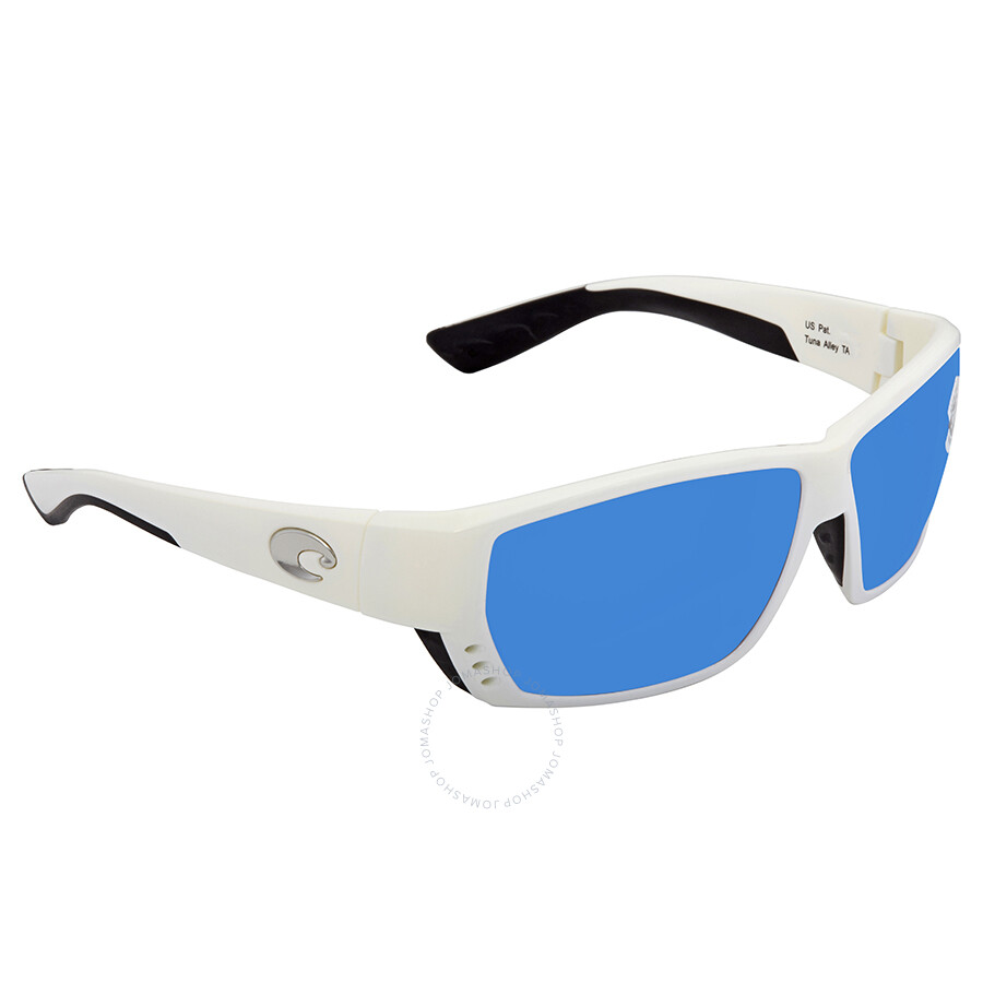 3a57aede571 Costa Del Mar Tuna Alley Large Fit Blue Mirror Glass Rectangular Sunglasses  TA 25 OBMGLP Item No. TA 25 OBMGLP