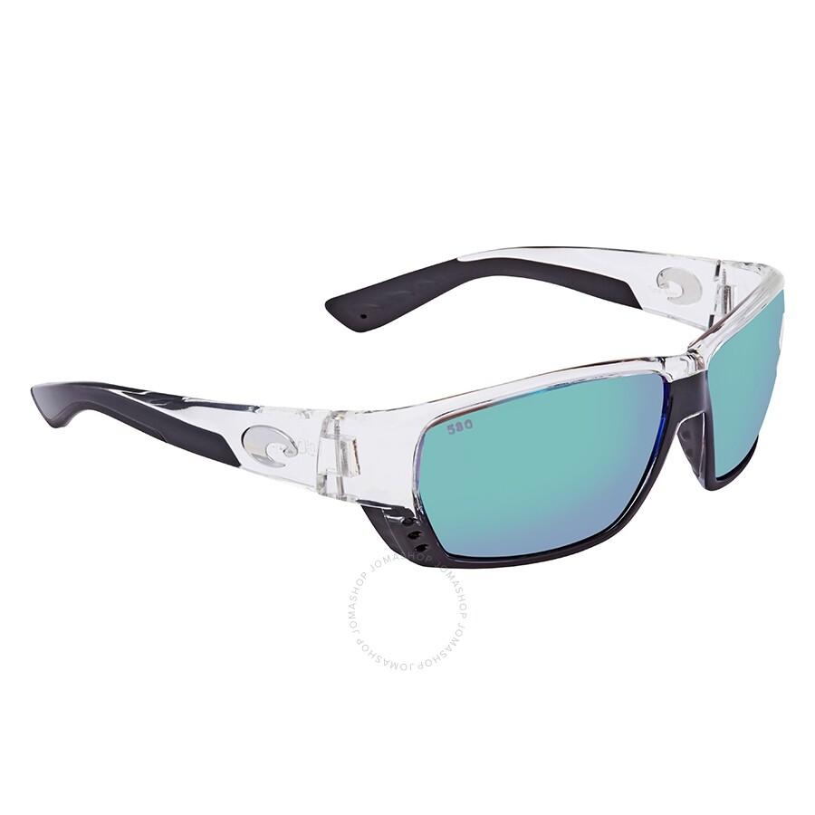 474b5aa8d1367 Costa Del Mar Tuna Alley Polarized Green Mirror Glass (580) Rectangular Sunglasses  TA 39 OGMGLP Item No. TA 39 OGMGLP