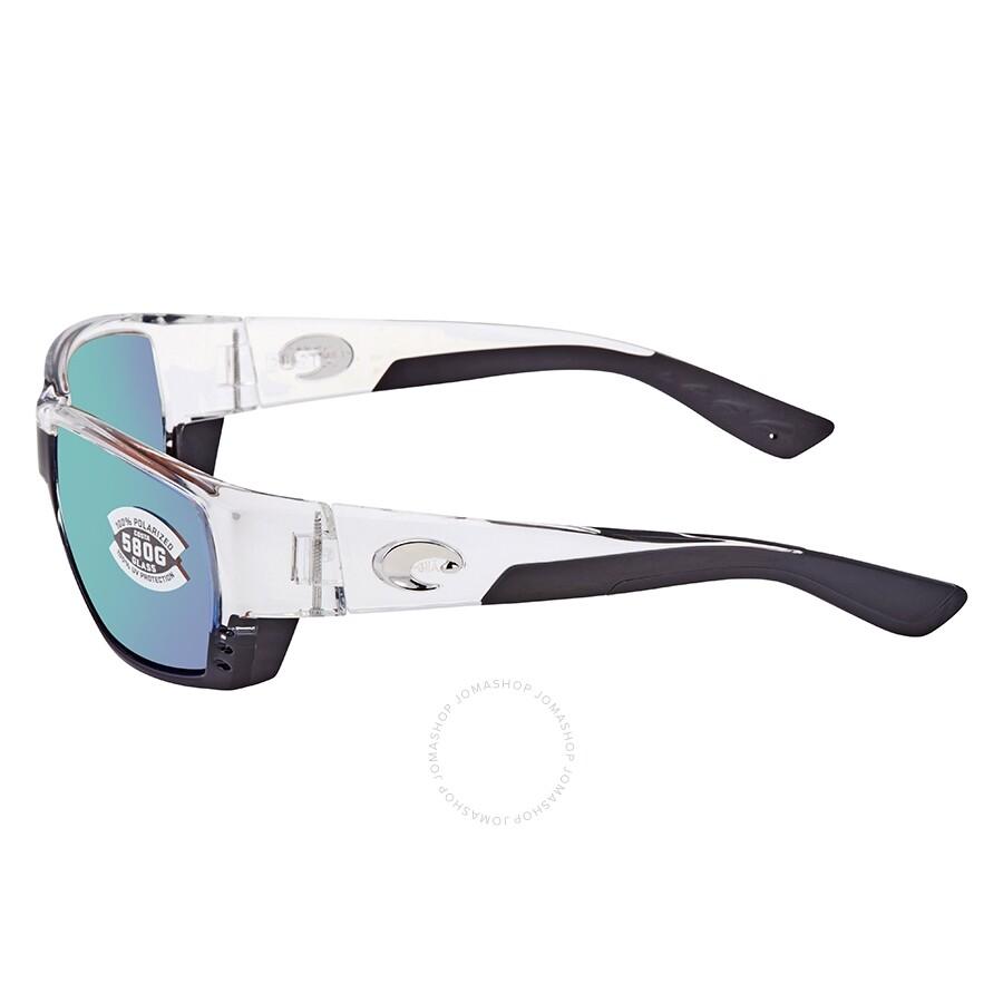 d7f3d3565c3c3 ... Costa Del Mar Tuna Alley Polarized Green Mirror Glass (580) Rectangular  Sunglasses TA 39