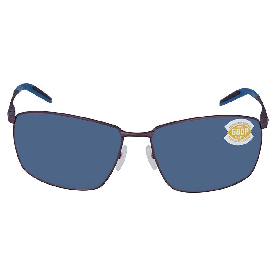784c492d96ff ... Costa Del Mar Turret Gray Polarized Plastic Rectangular Sunglasses TRT  247 OGP ...