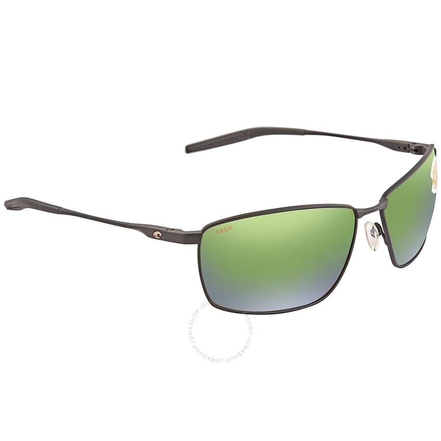 c0ad1f38b8a5 Costa Del Mar Turret Green Mirror Polarized Plastic Rectangular Sunglasses  TRT 11 OGMP Item No. TRT 11 OGMP