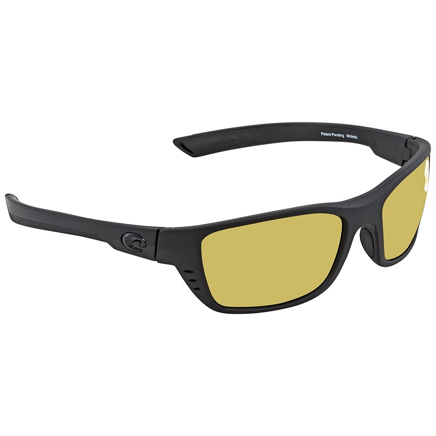 39ad581a9a646 Costa Del Mar Whitetip Sunrise Silver Mirror Polarized Plastic Rectangular  Sunglasses WTP 01 OSSP ...