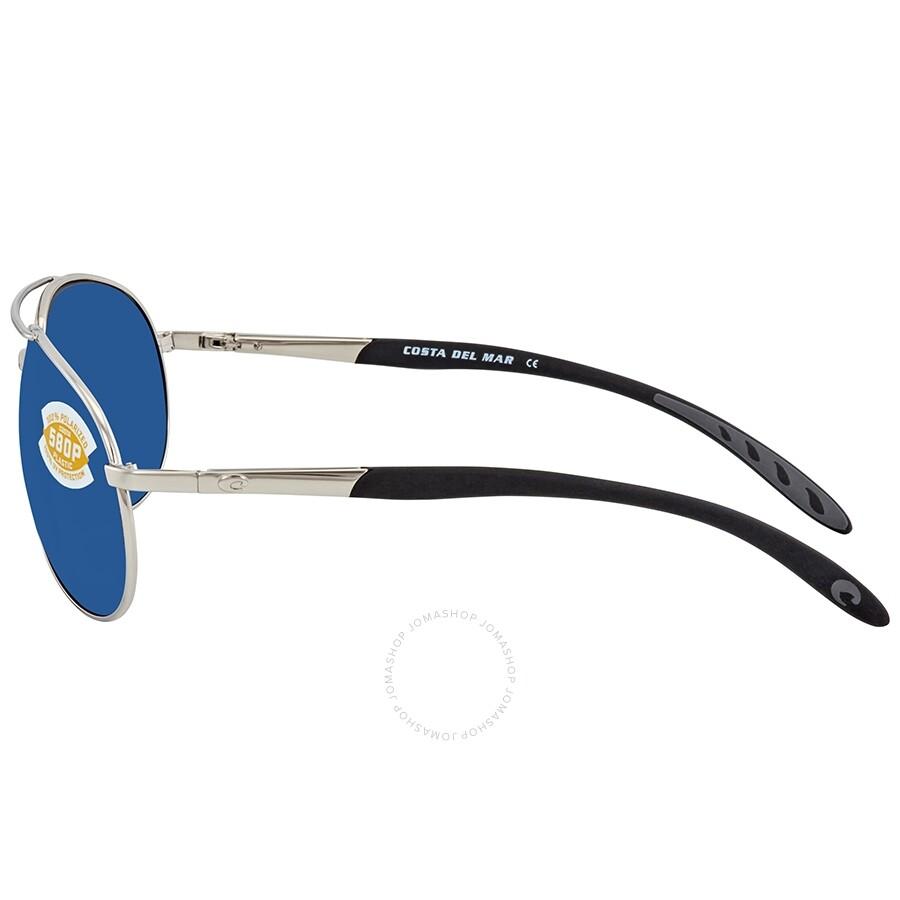 09544e46b5f ... Costa Del Mar Wingman Blue Mirror Polarized Plastic Aviator Sunglasses  WM 21 OBMP