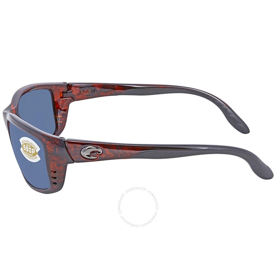 fa8ded7a91 Costa Del Mar Zane Blue Mirror Rectangular Sunglasses ZN 10 OBMP ...