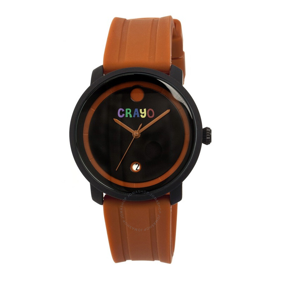 crayo fresh black and brown brown rubber unisex