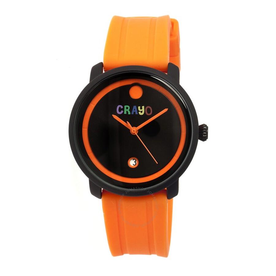 crayo fresh black and orange orange rubber unisex