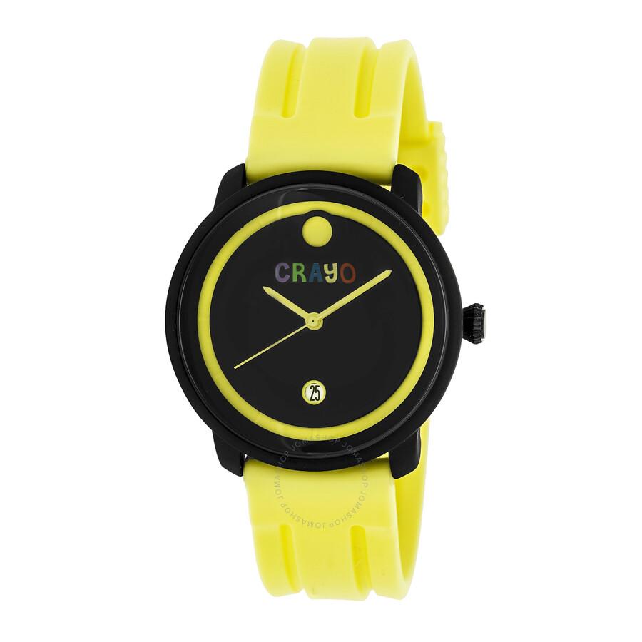 crayo fresh black and yellow yellow rubber unisex