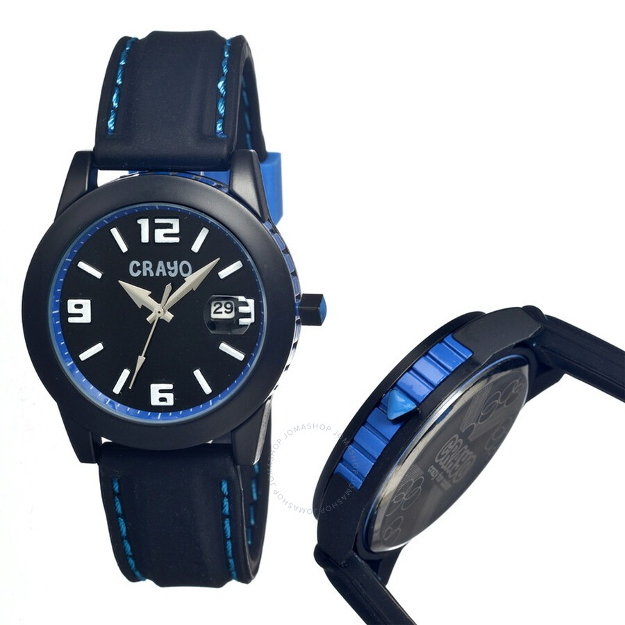 crayo pop black ion plated stainless steel unisex