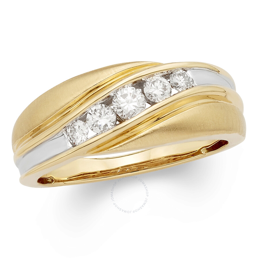 835ea50e2f02e CYA K Certified Diamond Men's Ring 1/2ct 14k Yellow Gold R123906Y
