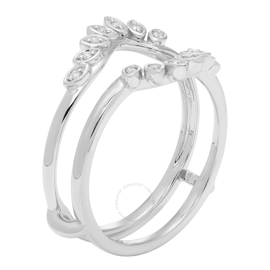 Cya K Diamond Wedding Ring Enhancer 07ct 14k White Gold R124076w 7