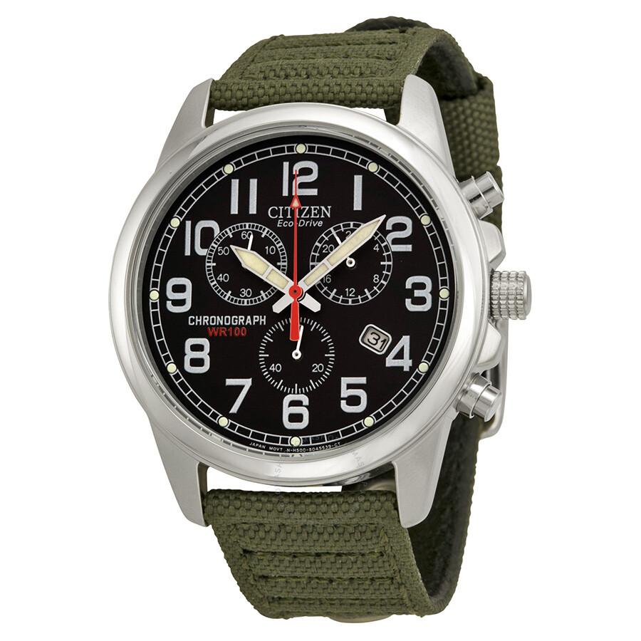 84ee9ecbb Open Box - Citizen Eco-Drive Chronograph Men's Strap Watch AT0200-05E ...