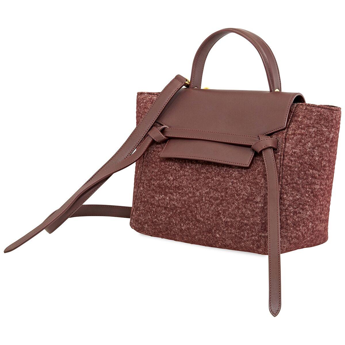 Celine Ladies Plum Micro Belt Bag 180152aun 28ru Handbags Celine Jomashop