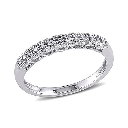 Amour 0.08 CT  Diamond TW Fashion Ring  10k White Gold GH I3 Size 9 | Joma Shop