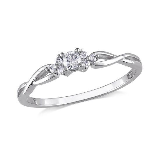 Amour 1/6 CT  Diamond TW Fashion Ring 10k White Gold GH I2;I3 Size 9 | Joma Shop