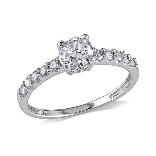 Amour 3/4 CT  Diamond TW Engagement Ring  14k White Gold GH I2;I3 Size 9   Joma Shop