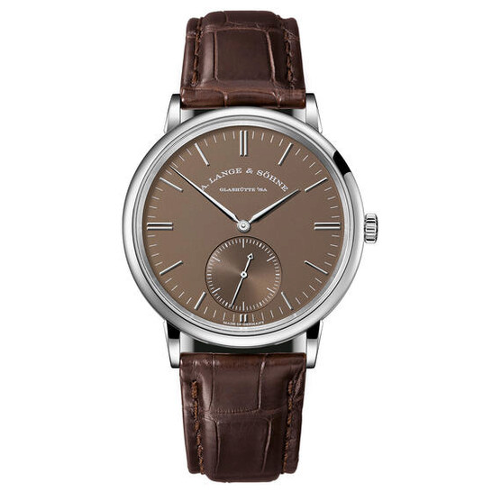 A. Lange & Sohne Saxonia Automatic Brown Dial Men's Watch 380.044 | Joma Shop