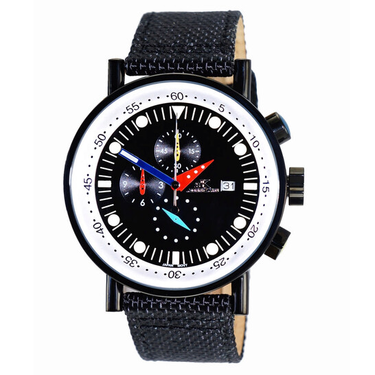 Adee Kaye Quartz Black Dial Men's Watch AK2267SS-60   Joma Shop