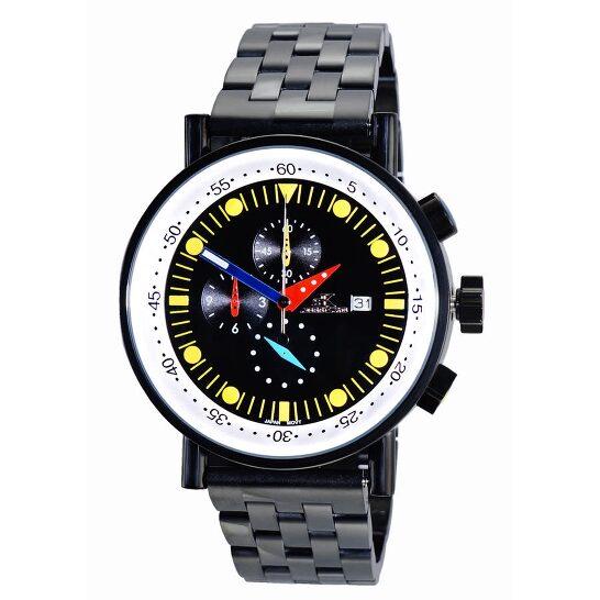 Adee Kaye Quartz Black Dial Men's Watch AK2268SS-60   Joma Shop