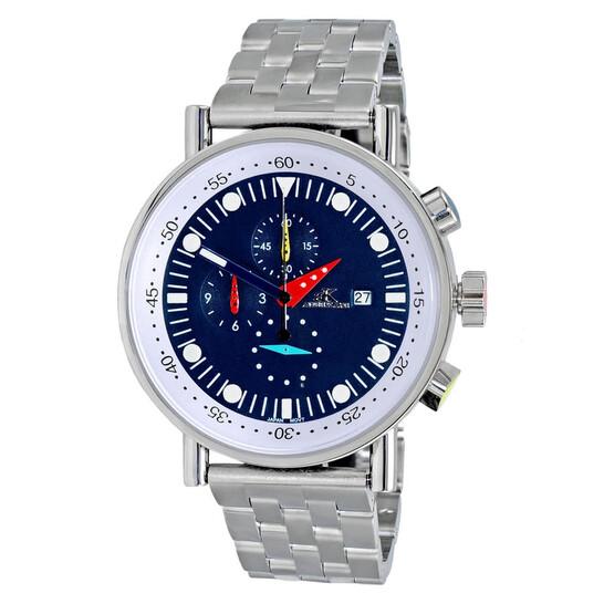 Adee Kaye Quartz Blue Dial Men's Watch AK2268SS-20 | Joma Shop