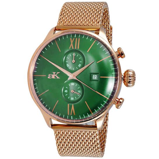 Adee Kaye Quartz Green Dial Men's Watch AK2376MESHRGGN | Joma Shop