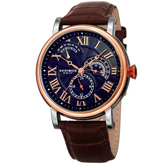 Akribos Xxiv Quartz Blue Dial Men's Watch AK1003RGBU | Joma Shop