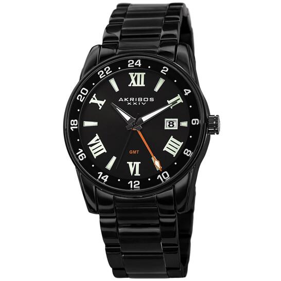 Akribos Xxiv Quartz Black Dial Men's Watch AK1055BK   Joma Shop
