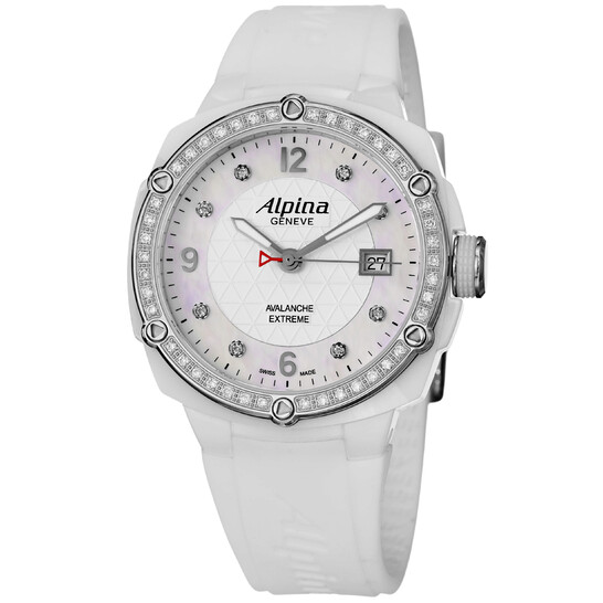 Alpina Avalanche Extreme White Dial Rubber Strap Ladies Watch 240MPWD3AECD6   Joma Shop