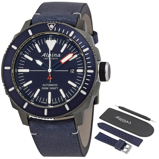 AlpinaSeastrong Diver Automatic Navy Blue Dial Men's Watch