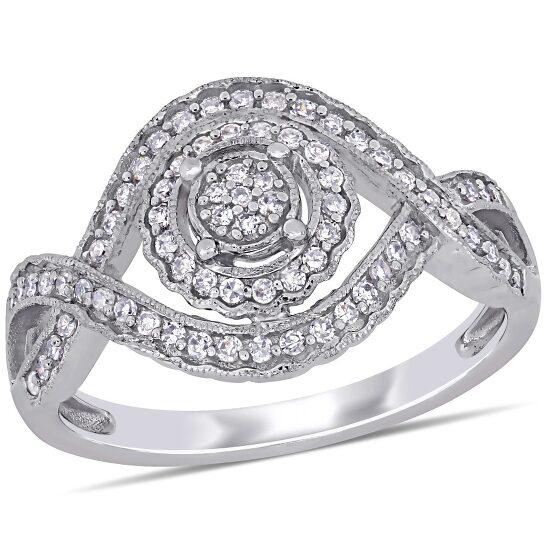 Amour 10K White Gold 1/3 CT TDW Diamond Fashion Ring   Joma Shop
