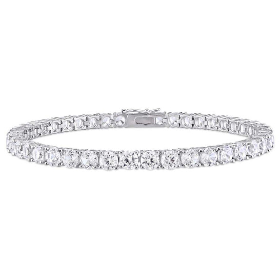Amour 14 1/4 CT White Sapphire Sterling Silver Bracelet | Joma Shop