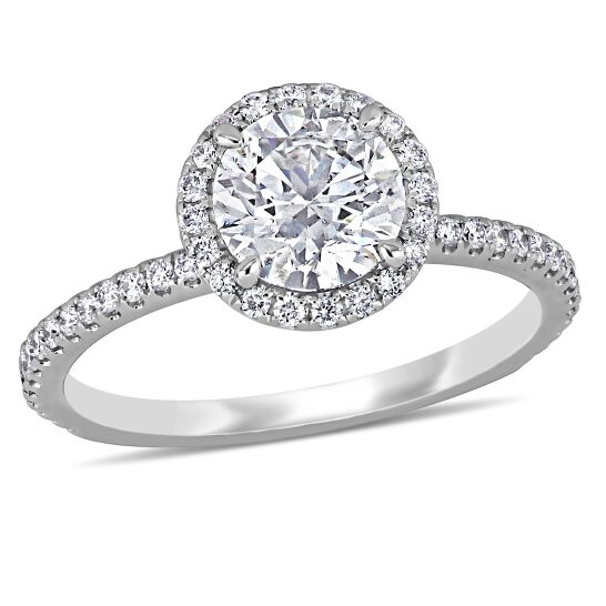 Amour 14K White Gold 1-1/3 CT TDW Diamond Engagement Ring | Joma Shop