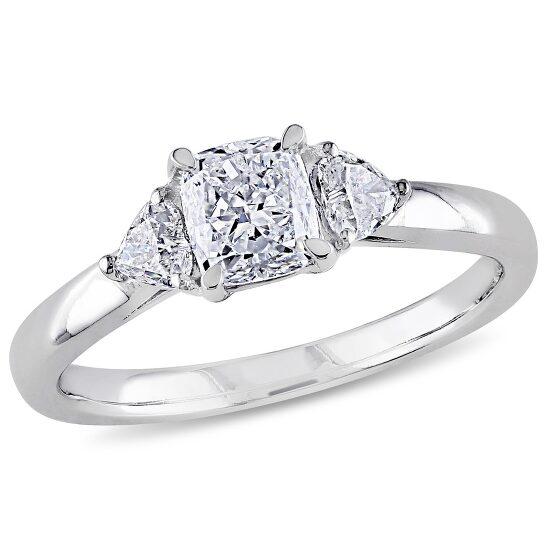 Amour 14K White Gold 1 CT TDW Diamond 3-Stone Ring   Joma Shop