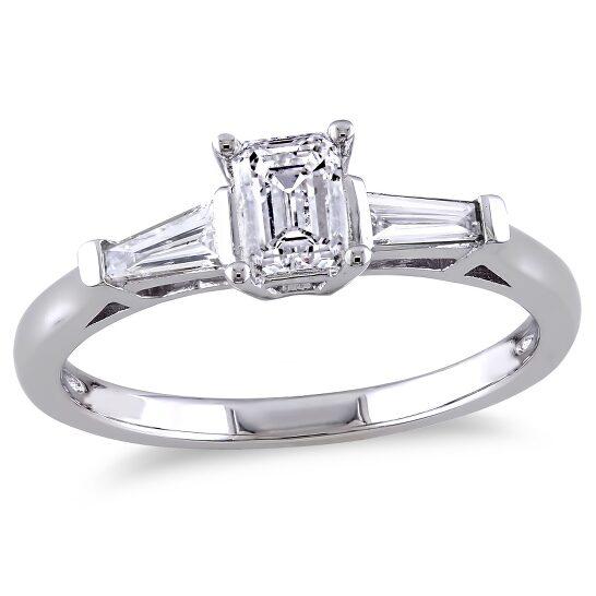 Amour 14K White Gold 3/4 CT TDW Diamond 3-Stone Ring | Joma Shop
