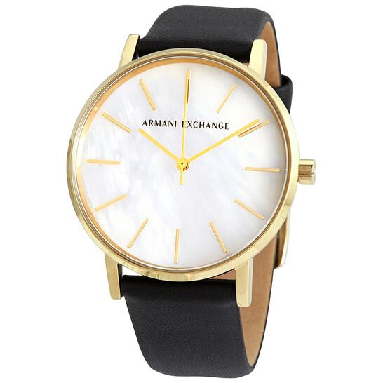 Armani Exchange Lola Quartz Cream Dial Ladies Watch AX5561   Joma Shop