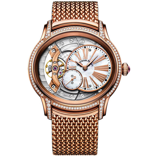 Audemars Piguet Millenary Mother of Pearl Dial Ladies 18kt Rose Gold Hand Wound Watch 77247OR.ZZ.1272OR.01 | Joma Shop