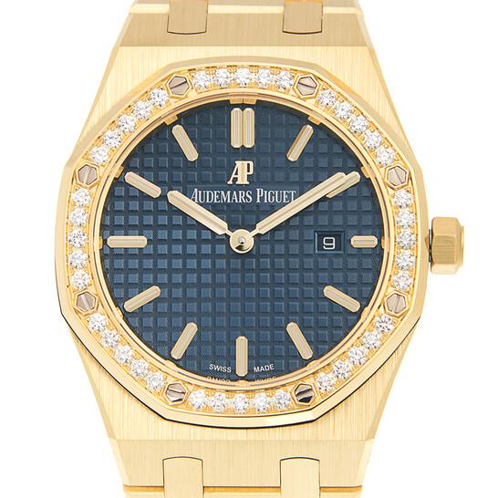 Audemars Piguet Royal Oak Blue Dial Ladies 18 Carat Yellow Gold Watch 67651BA.ZZ.1261BA.02 | Joma Shop