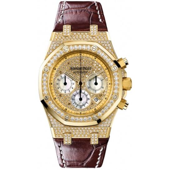 Audemars Piguet Royal Oak Chrono Diamond Men's Watch 26068BA.ZZ.D088CR.01 | Joma Shop