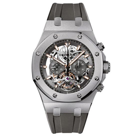 Audemars Piguet Royal Oak Tourbillon Slate Grey Skeleton Dial Men's Watch 26347TI.GG.D004CA.01   Joma Shop