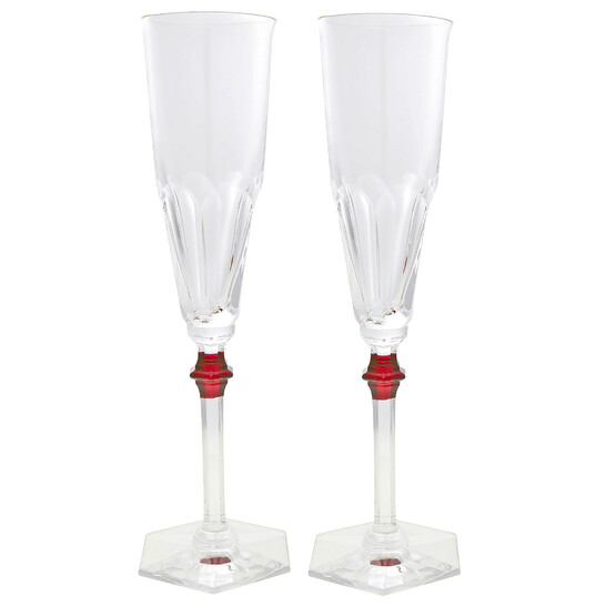 Baccarat Harcourt Eve Flute Set of 2 - Red | Joma Shop