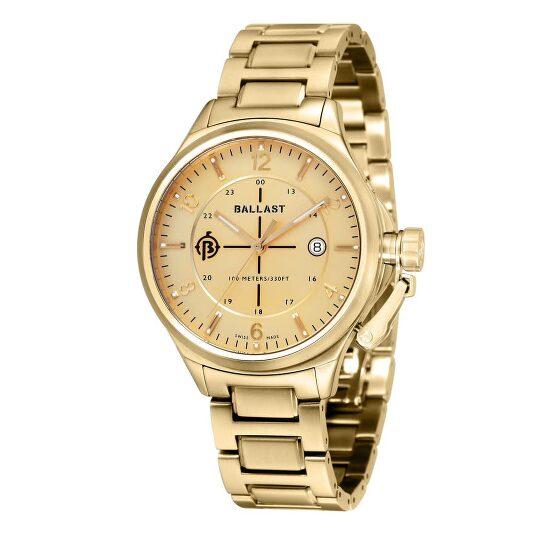Ballast Trafalgar Champagne Dial Men's Watch BL-3125-55   Joma Shop