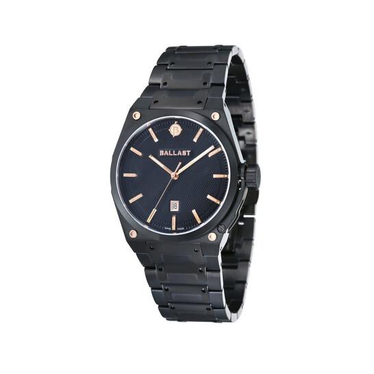 Ballast Valiant Black Dial Black IP Stainless Steel Watch BL-5102-66 | Joma Shop